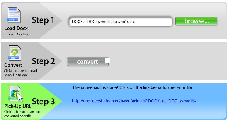 Cómo convertir archivos  docx a  doc Gratis Online