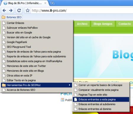 Botones SEO para consultar cualquier Web