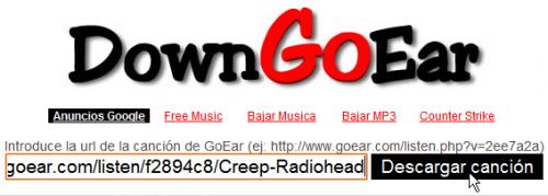 Ejemplo: http://www.goear.com/listen/f2894c8/Creep-Radiohead