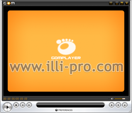 Gom Media Player Portable ejecutándose