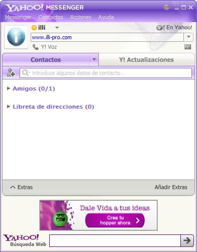 Vista previa del nuevo Yahoo Messenger 10
