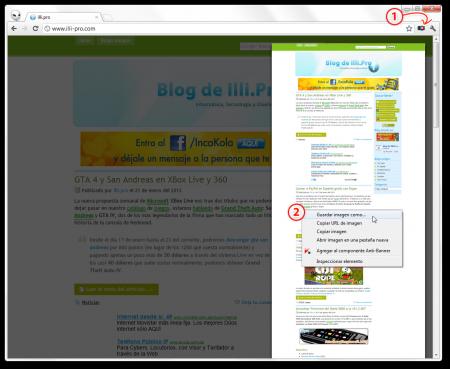 capturar imagen pantalla completa pagina web