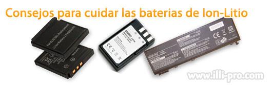 como cuidar vida baterias litio