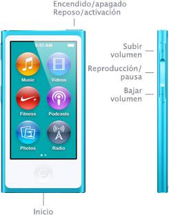 botones ipod nano