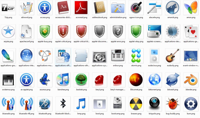 7ac5bab00559d Excelente Pack de 650+ Iconos de Mac OS X Leopard