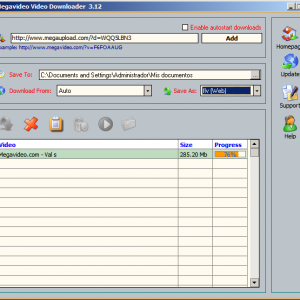Vista Previa de Megavideo Video Downloader